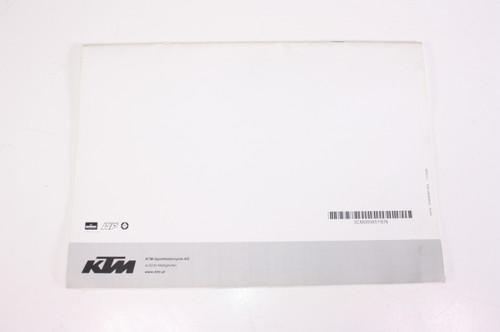 09 KTM RC8 Engine Spare Parts Manual 3CM089851IEN