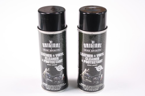 12oz 2 Pack Original Bike Spirits Leather & Vinyl Cleaner Protectant Spray Can