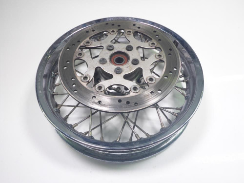 01 Victory V92 C Front Wheel Rim 16 x 3.00 DAMAGED With Rotor 1910519
