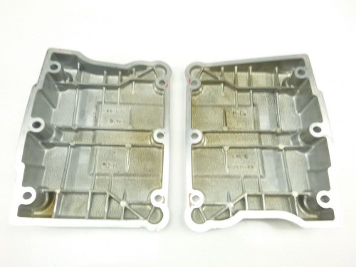 08 Harley Davidson FXDF Dyna Fat Bob Front Cylinder Head Valve Covers 96ci