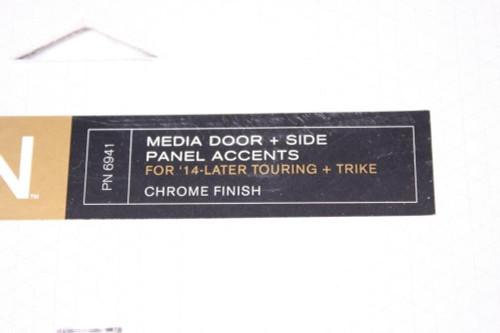 Kuryakyn Bahn Media Door + Side Panel Accents Harley Touring & Trike Chrome 6941