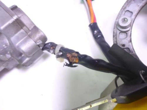 09 Suzuki GS 500 Lock Set Ignition Switch Cap And Key