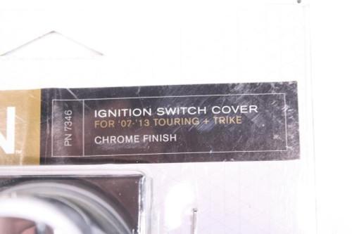 Kuryakyn Bahn Ignition Switch Cover Chrome Harley 07-13 Touring & Trike 7346