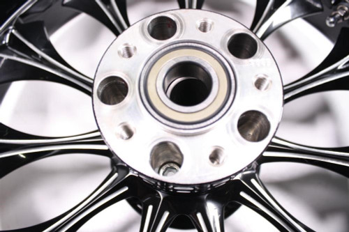 Detroit V.I.P. Harley HD FLH FLHT Wheel Rim Rear Billet Black 18x5.5 65-4650
