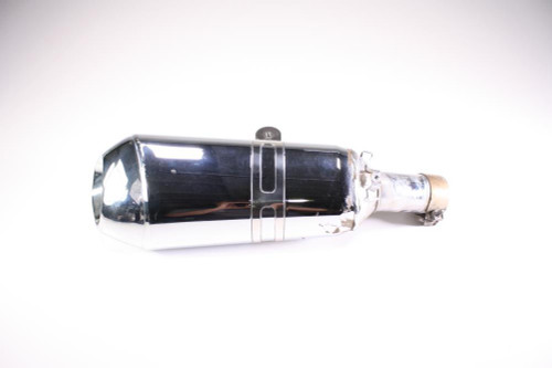 16 BMW R1200RS Exhaust Pipe Muffler Can Chrome