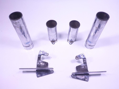 04 Honda VTX1800N Front Fork Outer Tubes Sleeves Covers Chrome