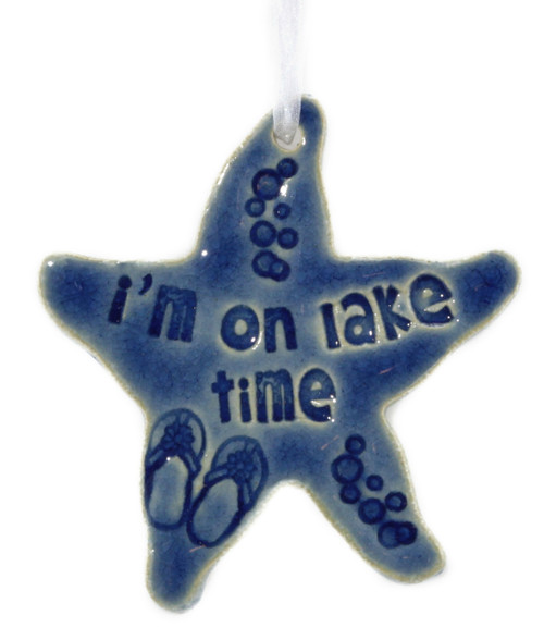 I'm On Lake Time. Handmade Starfish Ceramic Ornament