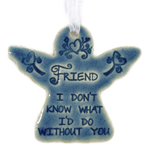 """Friend, I Don't Know What I Would Do Without You. Handmade ceramic starfish available in blue and green. Measures 4""""x4""""."""