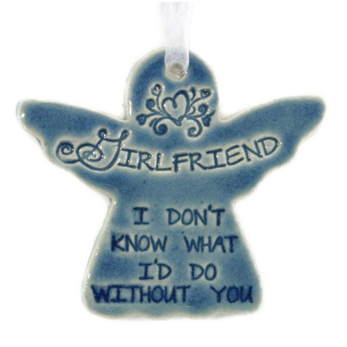 "Girlfriend I Don't Know What I Would Do Without You. Handmade ceramic starfish available in blue and green. Measures 4""x4""."