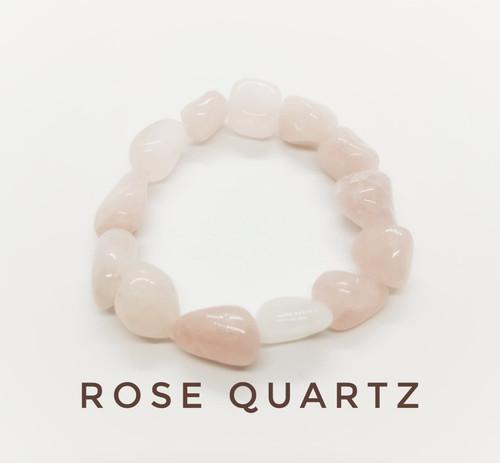 Rose Quartz Tumblestone Bracelet