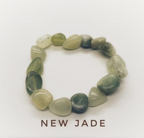 Serpentine, New Jade Tumblestone Bracelet