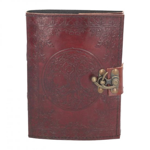 Tree Of Life Leather Journal w/lock