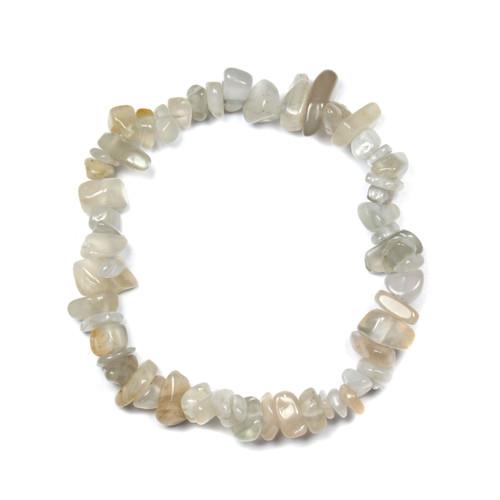 """Moonstone Chip Bracelet 7.5"""""""