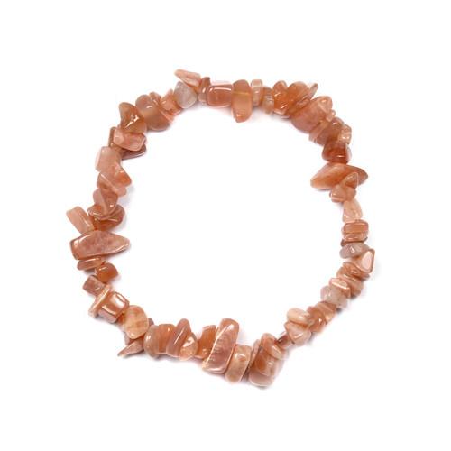 """Moonstone Pink Chip Bracelet 7.5"""""""