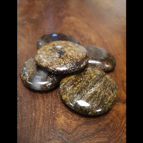 Bronzite Palm Stone