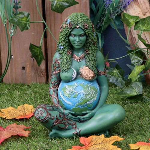 Mother Earth Art Figurine Painted 17.5cm