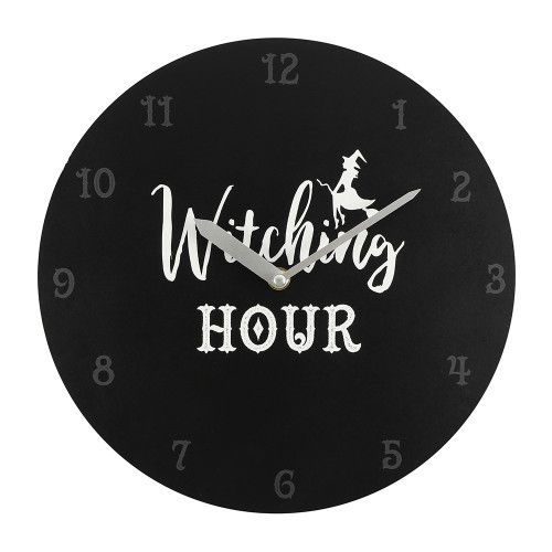 WITCHING HOUR MDF CLOCK 28CM