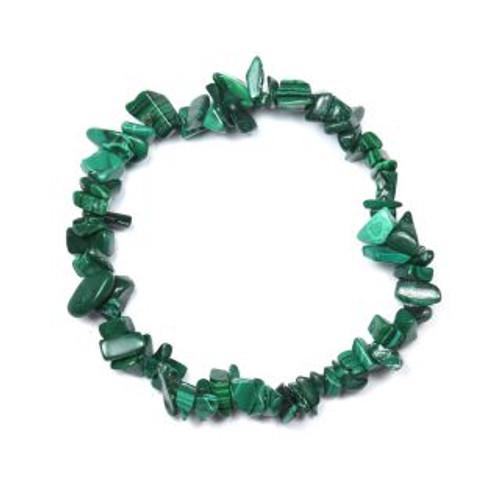 Malachite Stone Chip Bracelet