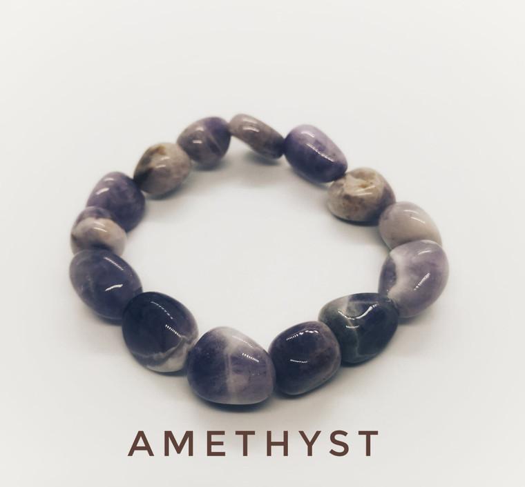 Amethyst Tumblestone Bracelet