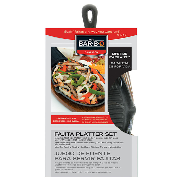 Mr. Bar-B-Q Fajita Platter Set