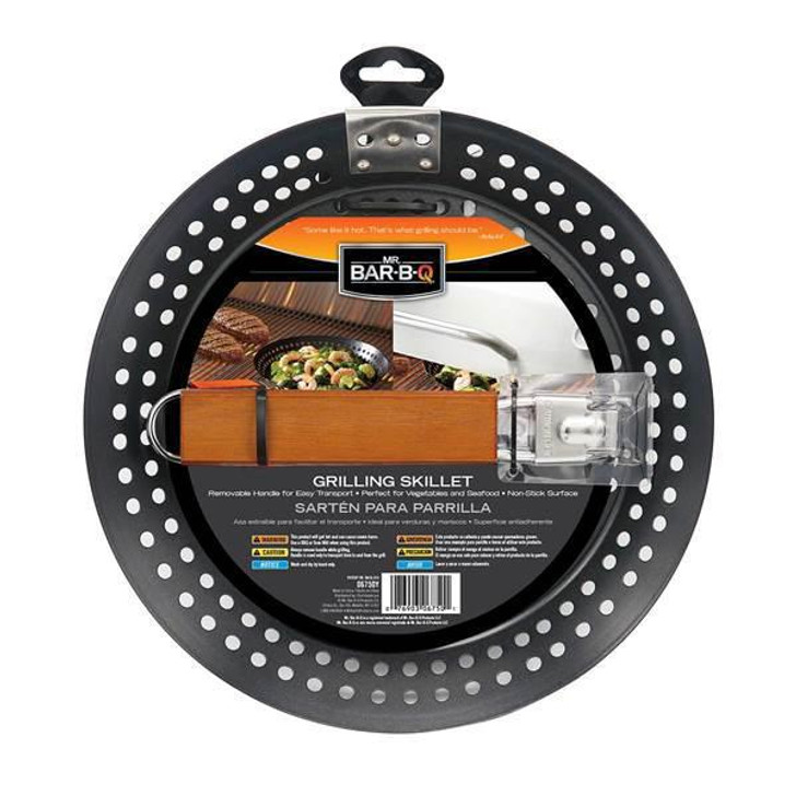 Mr. Bar-B-Q Grilling Skillet Black
