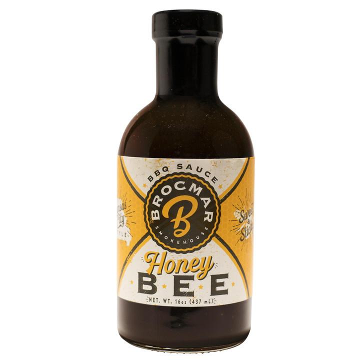 Brocmar Honey Bee – Craft BBQ Sauce – 16oz Stout Bottle
