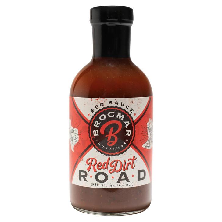 Brocmar Red Dirt Road – Craft BBQ Sauce – 16oz Stout Bottle