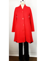 Venario red cashmere blend coat, front