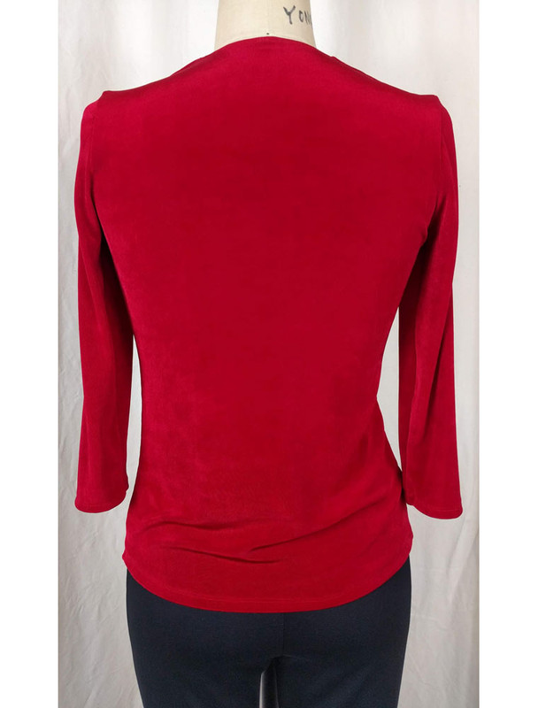 Slight Cowl Neck Top Red Back