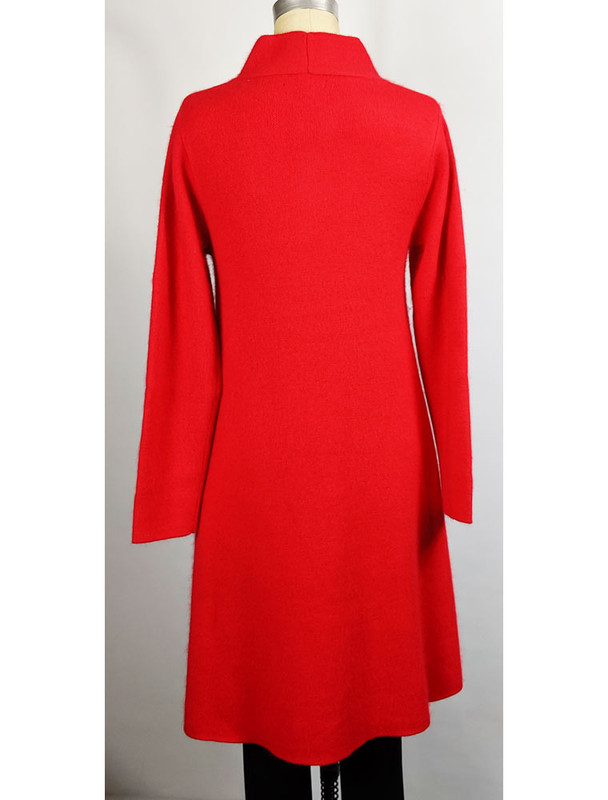 Venario red cashmere blend coat, back