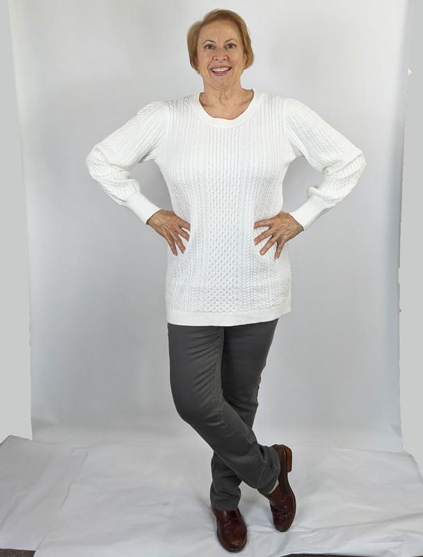Model wearing size Large, Carreli jeans size 8.