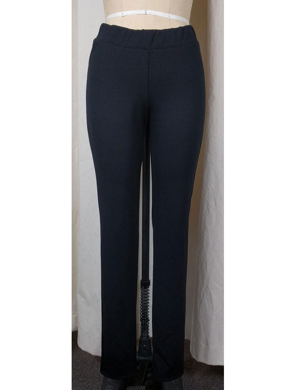 Ponte Knit Narrow Leg Pant Black Front