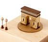 Handmade Wooden Triumphal Arch Music Box