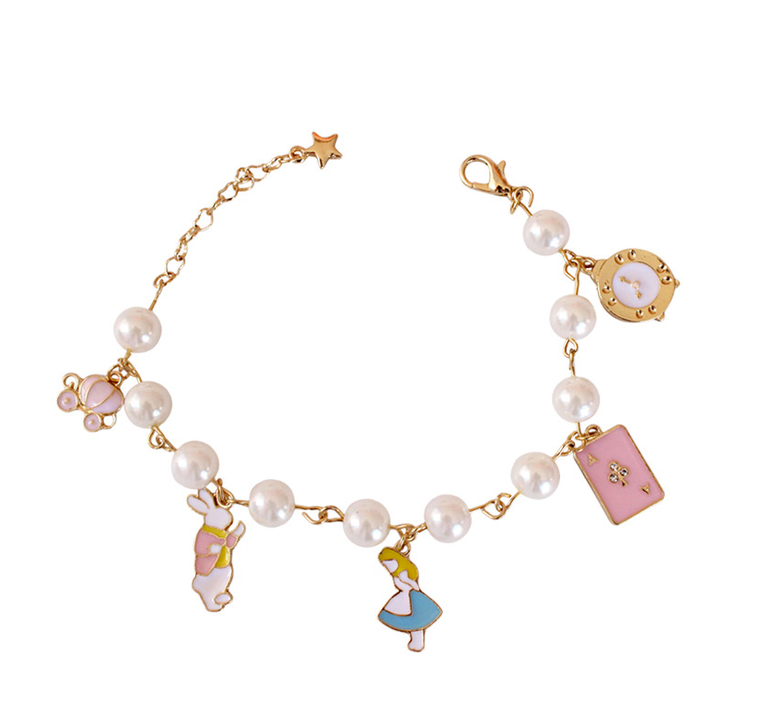 Alice in Wonderland Tea Party Charm Bracelet
