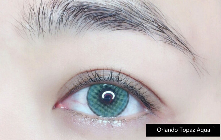 I.Fairy Orlando Topaz Aqua 14.5 mm ( New )