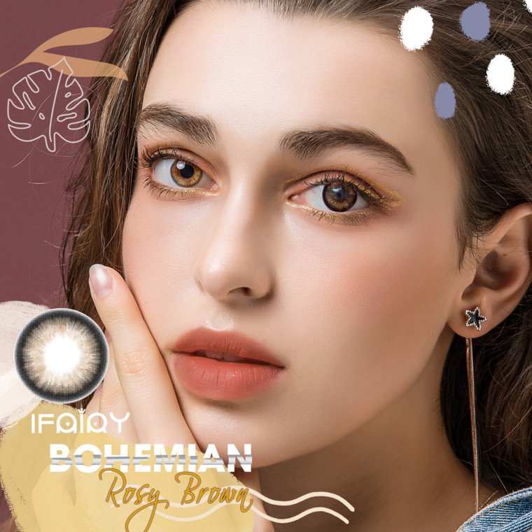 I.Fairy Bohemian Rosy Brown 14.2mm