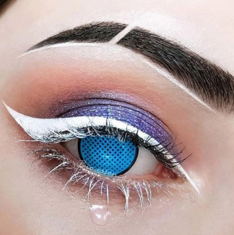 Blue Mesh Halloween Contact Lenses