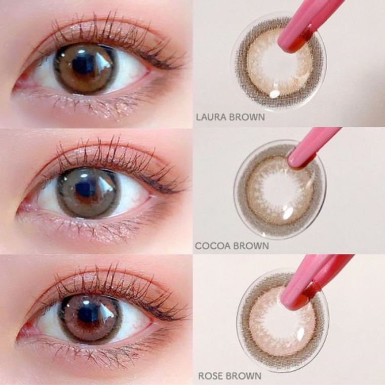 I.Fairy Nanaview Rose Brown 16.2mm Color Contact Lens