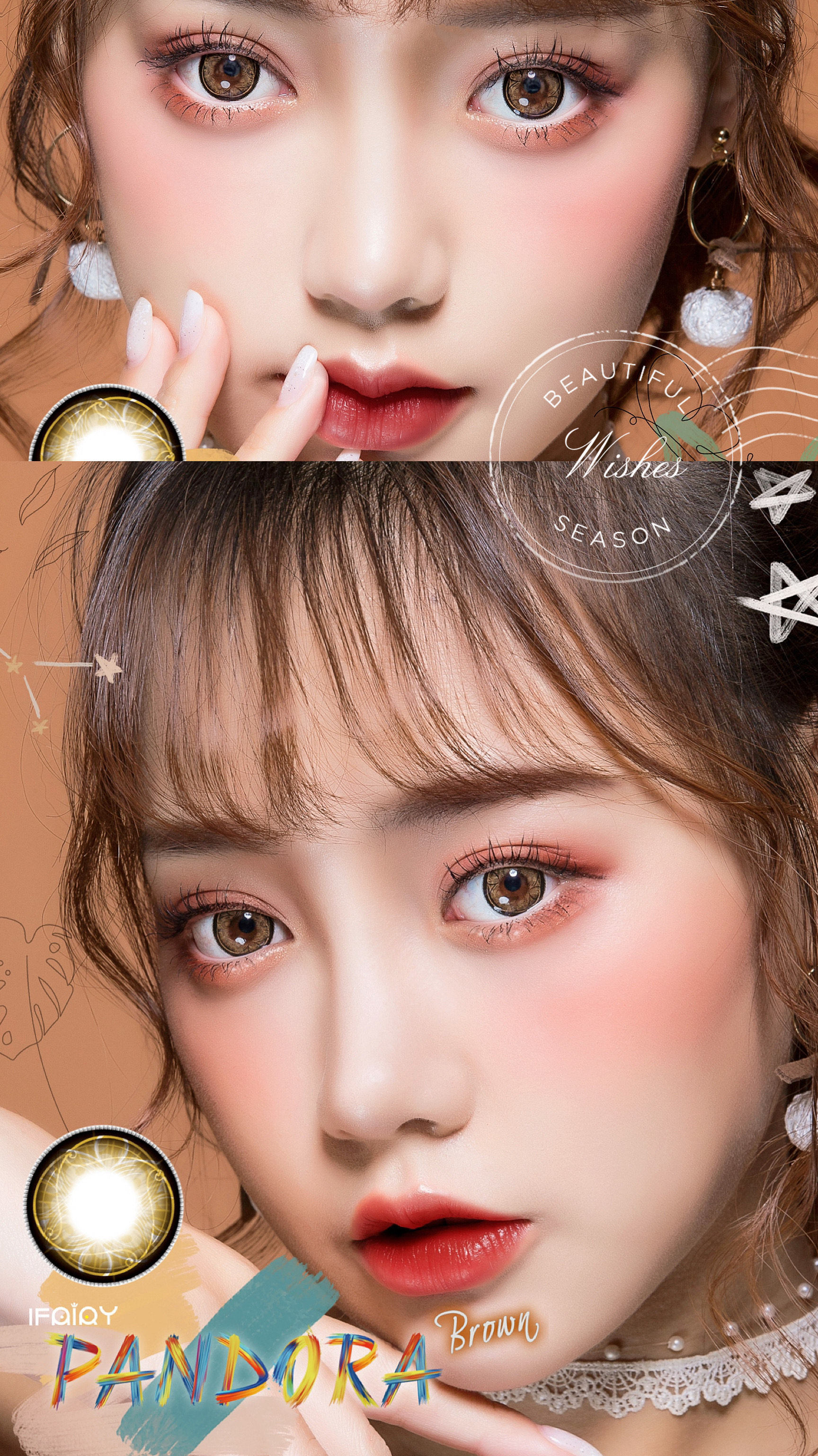 i.fairy pandora , ifairy pandora brown, color contact lens, ifairy destiny color contact lens, ttdeye, pinkyparadise, color contacts, big eye contact lens, korean color contacts, korean circle lenses