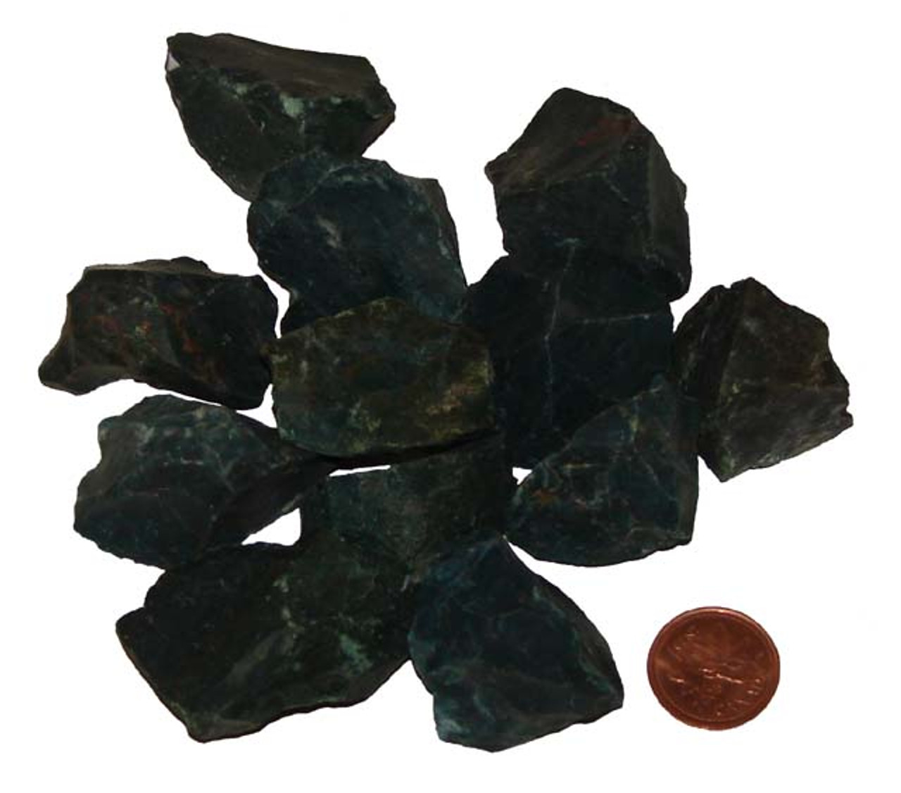 Bloodstone Raw Stones, Extra Large, 20-24 grams, approx  1-1/4 inches