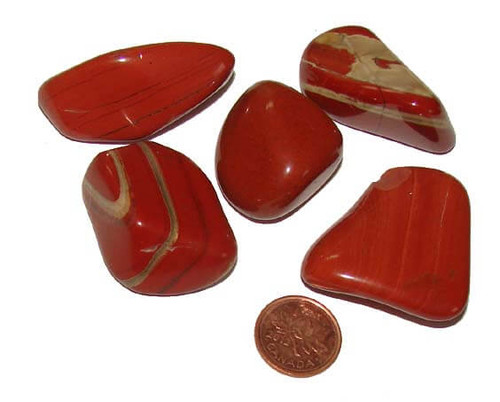 Tumbled Red Jasper Stones - size XXLarge