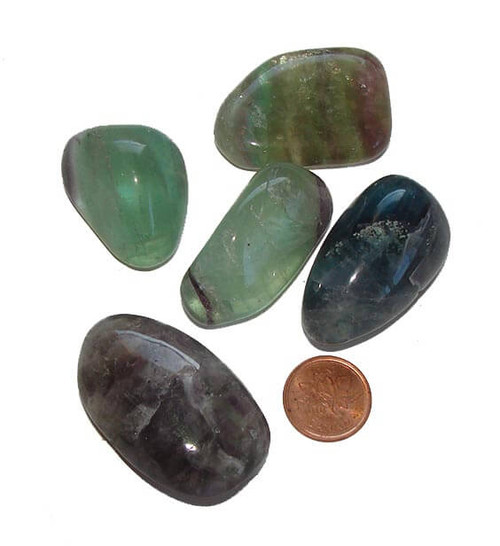Tumbled Mixed Fluorite Stones, Extra Quality, size extra large