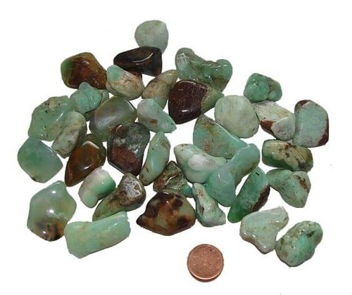 Chrysoprase Tumbled Stones from Brazil, Size Small