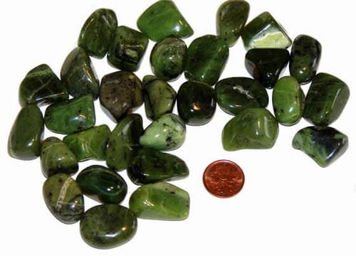Tumbled Jade Nephrite Stones - size small