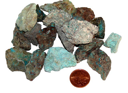 Rough Chrysocolla stones - size small