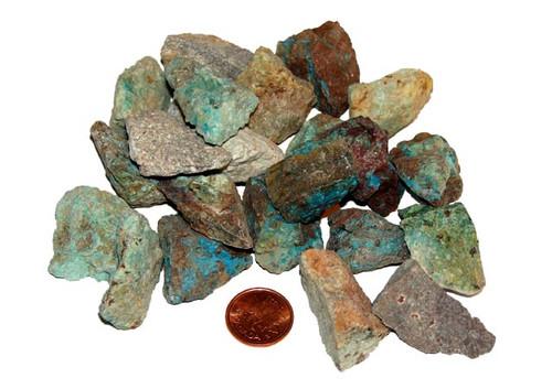 Raw Chrysocolla stones - size Medium