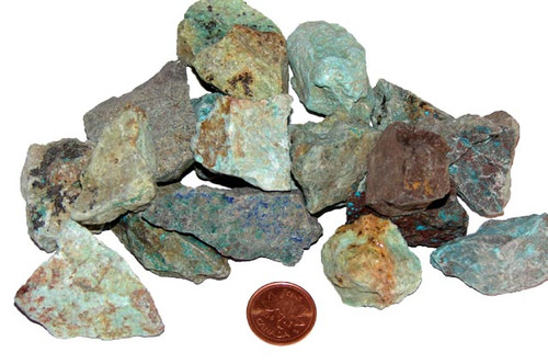 Chrysocolla rough stones - size large