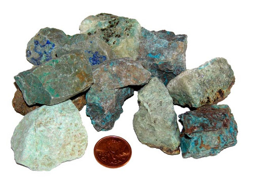Natural Chrysocolla stones - size XX Large