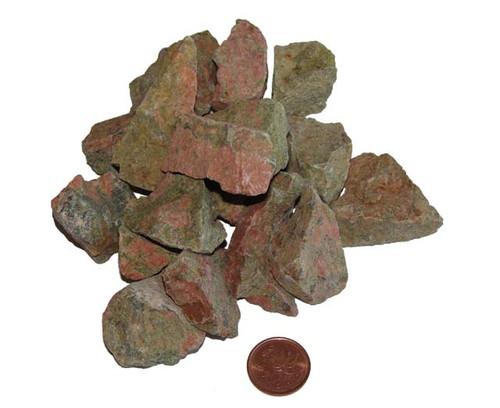 Rough Unakite stones - size medium