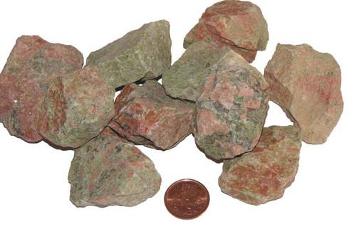 Rough Unakite stones - size extra large